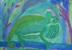 2018 | Kunst J5 | Deckfarbmalerei