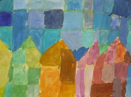 2019   Kunst J5   Malerei nach Klee