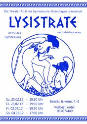 2012 Lysistrate Plakat
