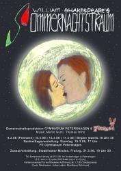 Plakat Sommernachtstraum Schule